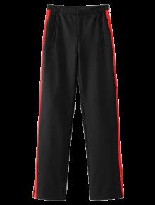 Color Block Sporty Pants - Black L