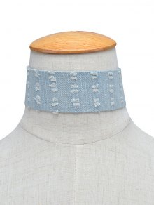 Jean Choker Collar Necklaces - Light Blue