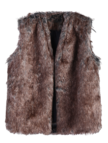 Faur Fur Winter Vest - Brown Xl