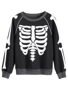 Loose Skeleton Sweatshirt