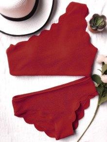 Combinaison De Bain à épaulettes Sans Fil à Une épaule - Bourgogne