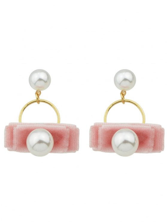 Faux Pearl Velvet Earrings -   Mobile