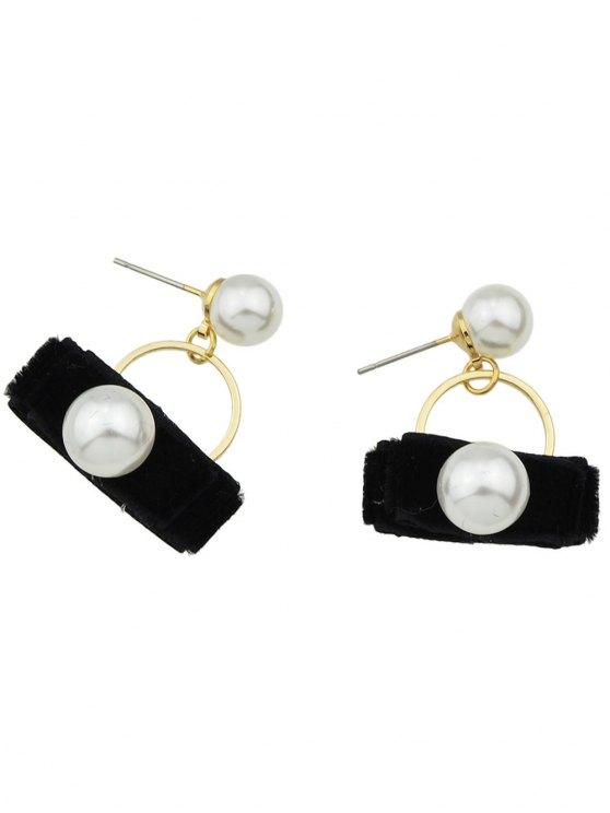 Faux Pearl Velvet Earrings -   Mobile