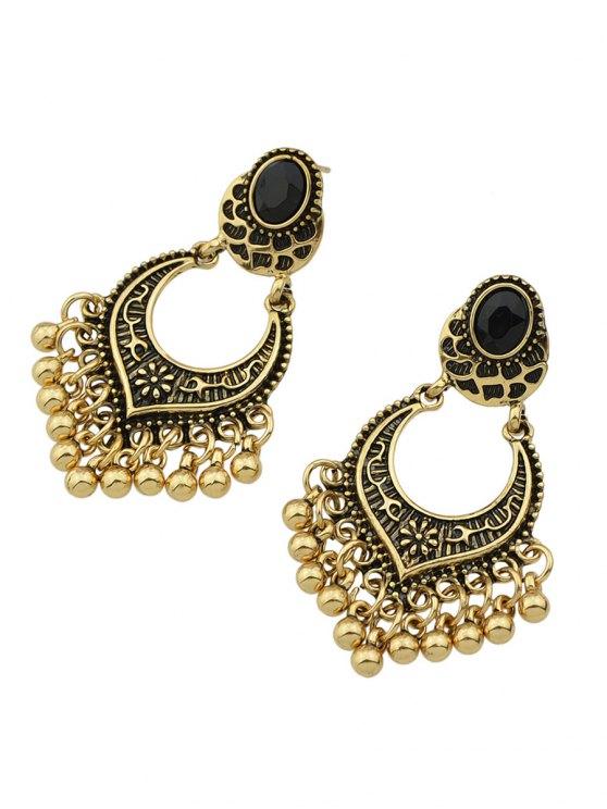 Bead Tassel Drop Earrings - GOLDEN  Mobile
