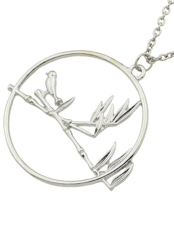 Circle Bird Pendant Necklace -   Mobile