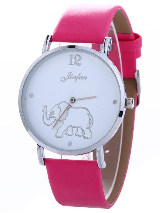 Faux Leather Elephant Quartz Watch - TUTTI FRUTTI  Mobile