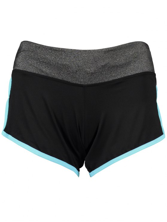 Elastic Piped Running Shorts - LAKE BLUE S Mobile