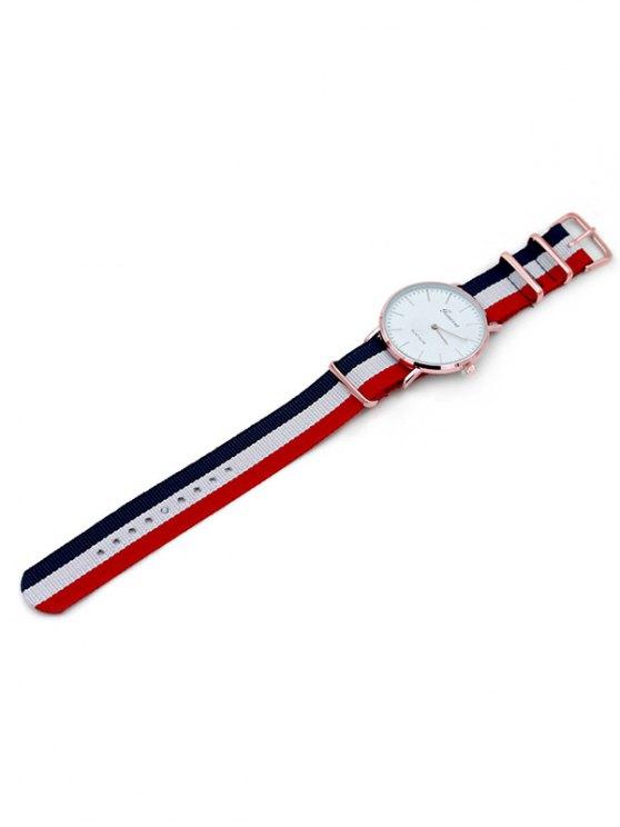 Striped Analog Quartz Watch - COLORMIX  Mobile