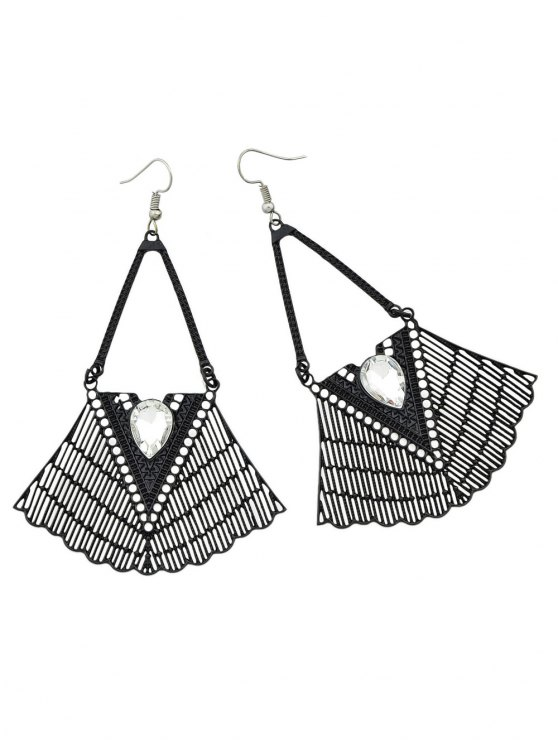 Faux Gemstone Geometric Vintage Drop Earrings -   Mobile