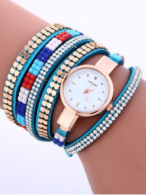 online Layered Studded Bracelet Watch - AZURE  Mobile