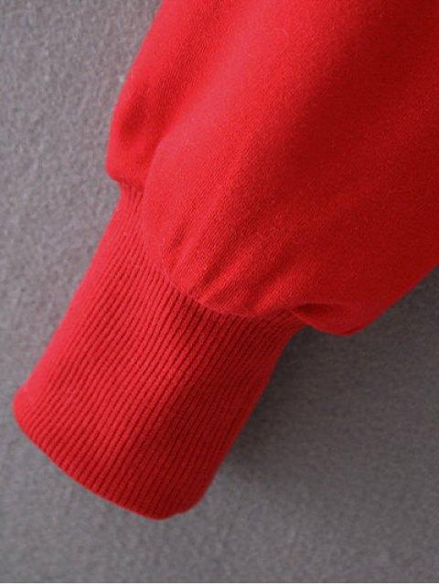 best Cropped Selfie Sweatshirt - RED L Mobile