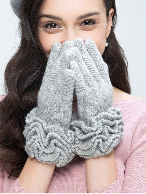 fancy Flouncing Wool Gloves -   Mobile