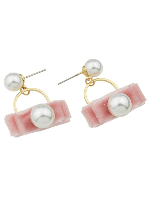 outfit Faux Pearl Velvet Earrings -   Mobile