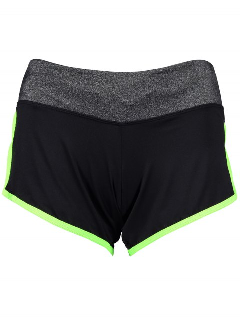affordable Elastic Piped Running Shorts -   Mobile