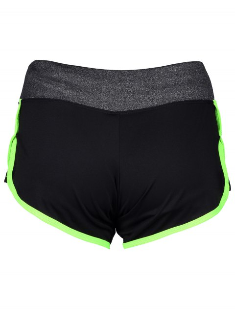 buy Elastic Piped Running Shorts - NEON GREEN S Mobile