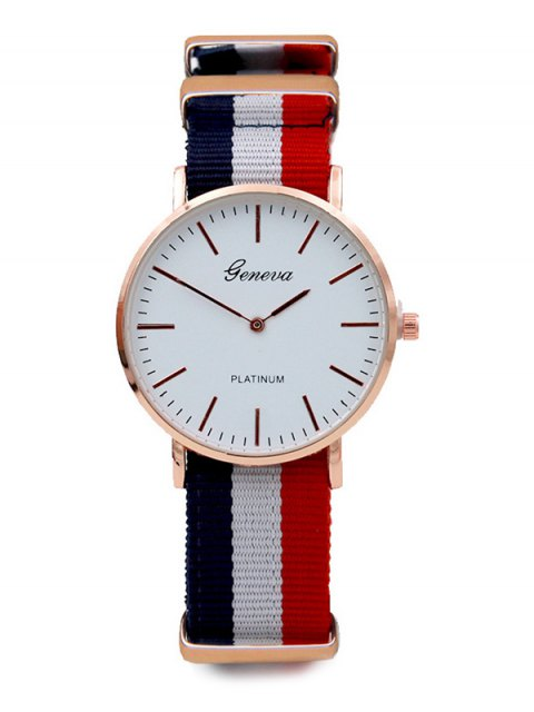 outfit Striped Analog Quartz Watch - COLORMIX  Mobile