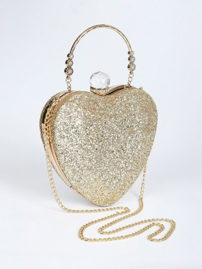 Metal Handle Heart Shape Rhinestones Evening Bag от Zaful.com INT