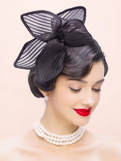 Flower Cocktail Hairband Hat - BLACK  Mobile