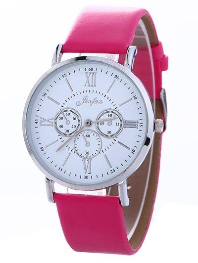 Faux Leather Roman numeral Analog Watch - TUTTI FRUTTI  Mobile