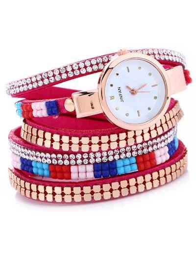 Layered Studded Bracelet Watch - TUTTI FRUTTI  Mobile