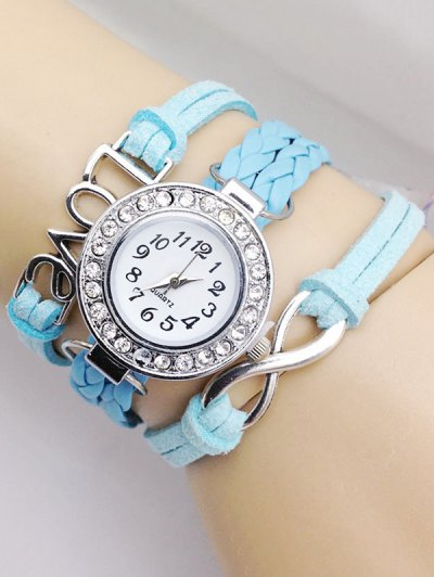 Love Braided Quartz Bracelet Watch - AZURE  Mobile