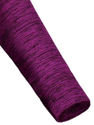 Long Sleeve Space Dye Running Top - PURPLISH RED L Mobile