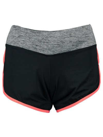 Elastic Piped Running Shorts - ORANGE RED M Mobile