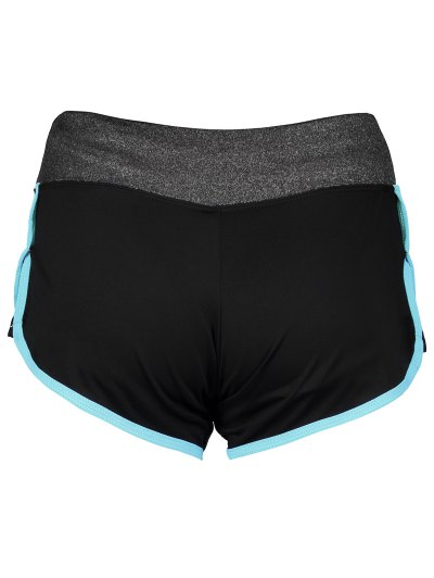 Elastic Piped Running Shorts - LAKE BLUE L Mobile