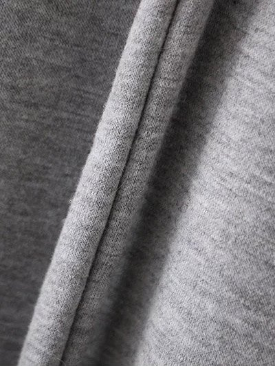 Slouchy Flare Sleeve Pullover Hoodie - GRAY M Mobile