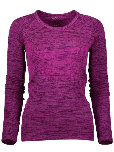 Space Dye Long Sleeve Running Top