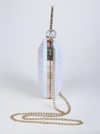 Metal Handle Heart Shape Rhinestones Evening Bag от Zaful.com INT