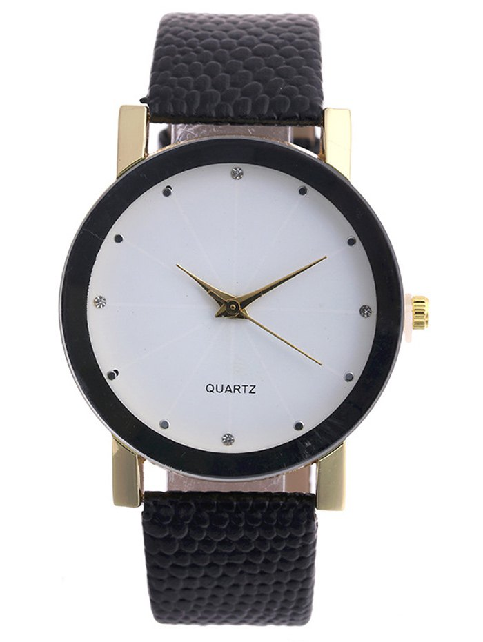Faux Leather Snakeskin Analog Watch