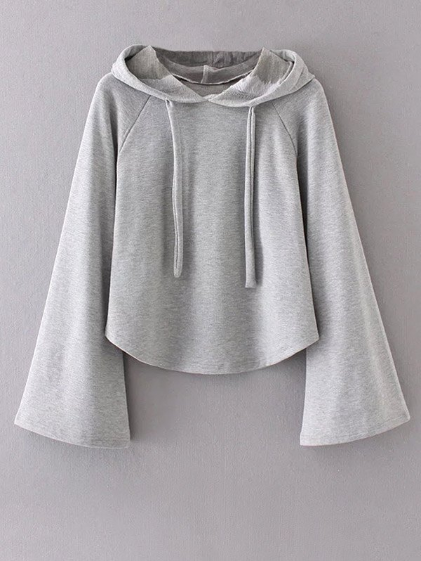 Bell Sleeve Pullover Hoodie