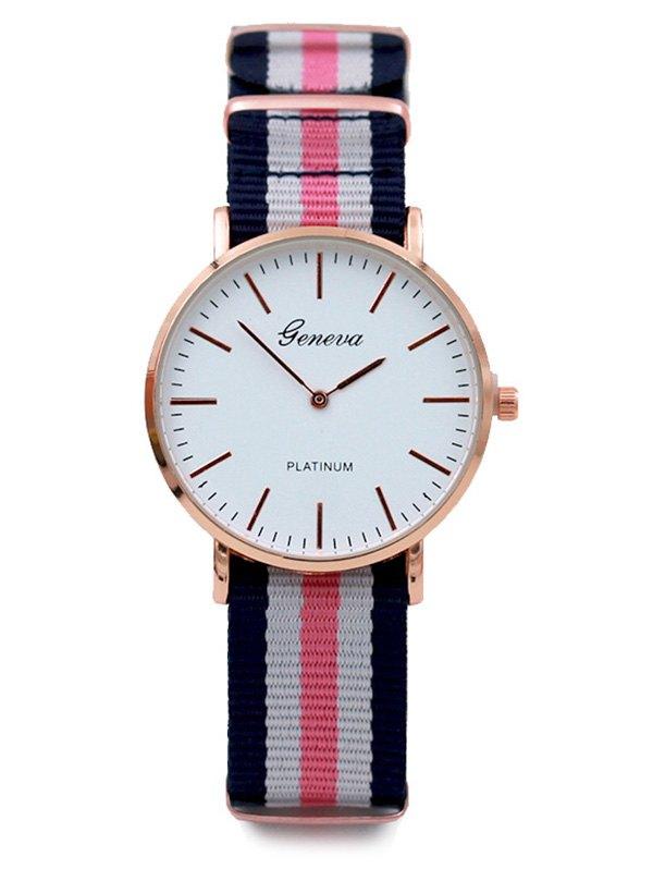 Striped Analog Quartz Watch