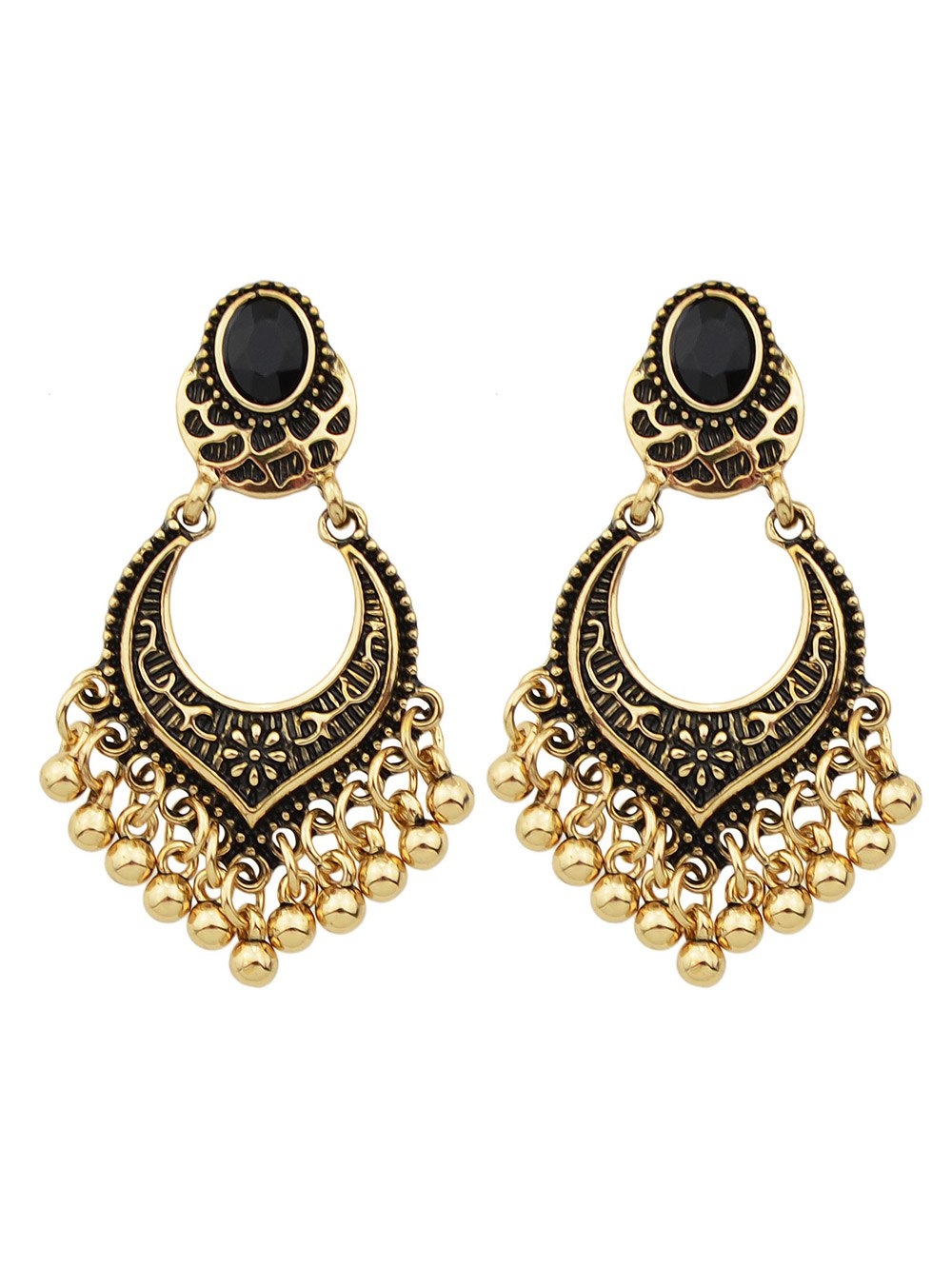 Beads Tassel Drop Earrings