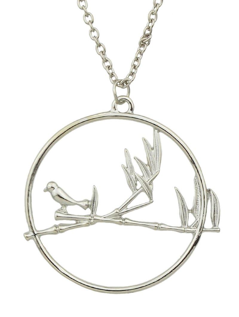 Bird Circle Pendant Necklace