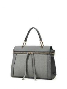 Zip Around Faux Leather Handbag