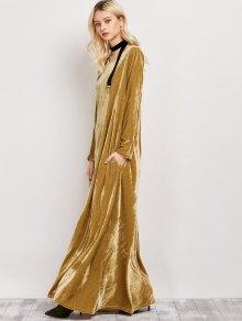 Velvet Long Sleeve Maxi Dress EARTHY: Maxi Dresses L | ZAFUL