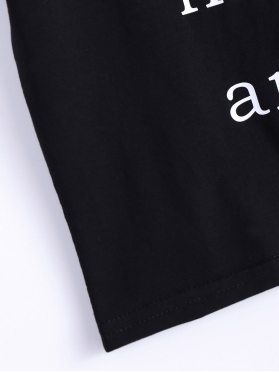 I Never Liked You Anyway Cropped Tee - BLACK M Mobile