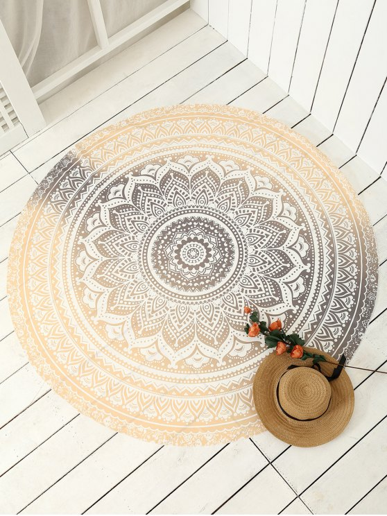 Printed Circle Beach Throw - GOLDEN ONE SIZE Mobile