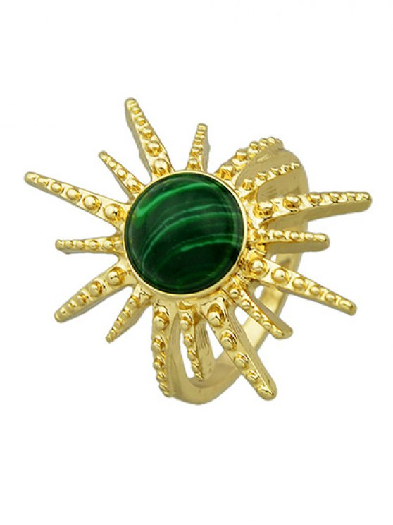 Faux Gemstone Sun Ring -   Mobile