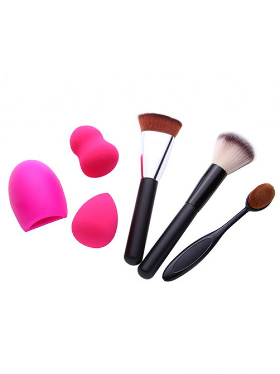 3 Pcs Makeup Brushes + Beauty Blenders + Brush Egg -   Mobile