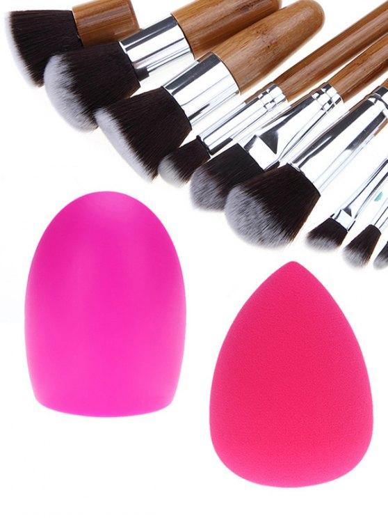 Makeup Brushes Set Brush Egg and Makeup Sponge - SILVER  Mobile