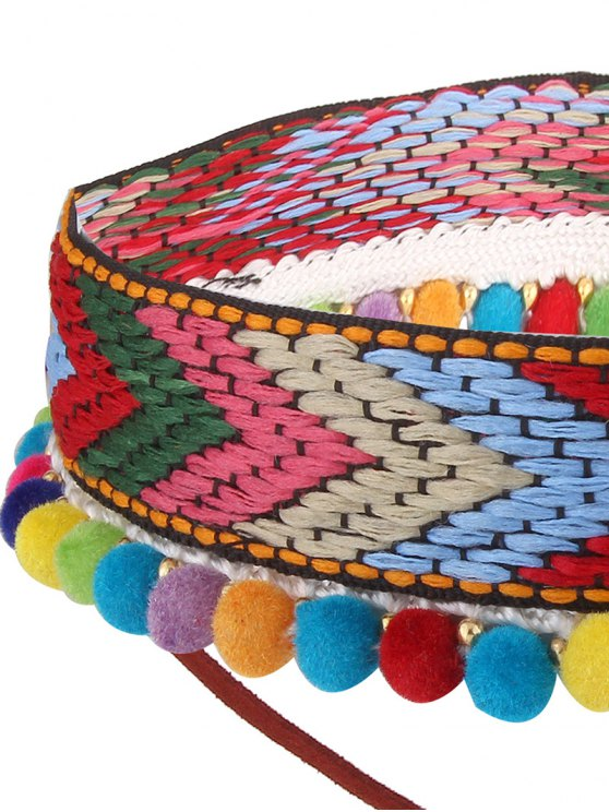 Colorful Leaf Arrow Crochet Choker Necklace - COLORFUL  Mobile