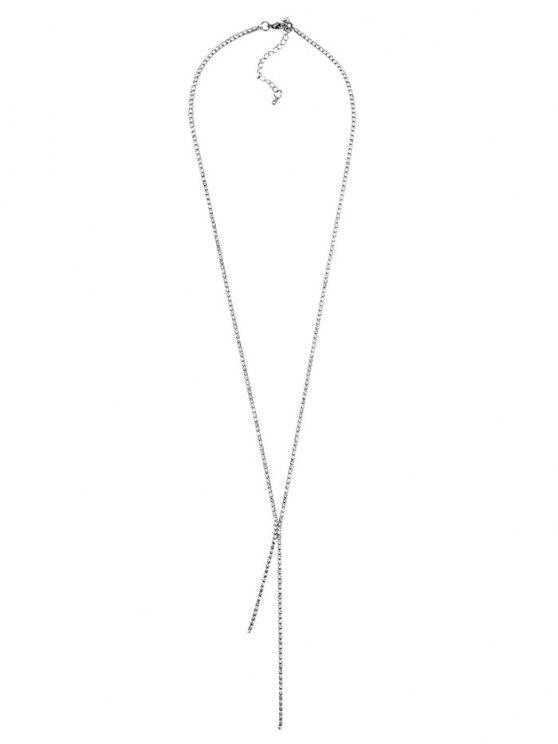 Rhinestoned Pendant Necklace -   Mobile