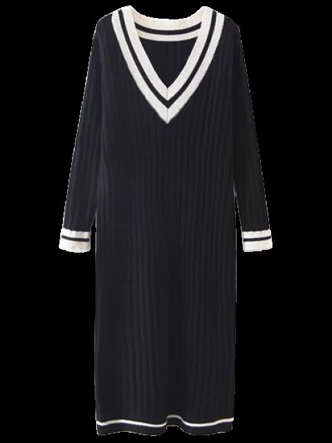 online Straight Midi Jumper Dress - BLACK ONE SIZE Mobile