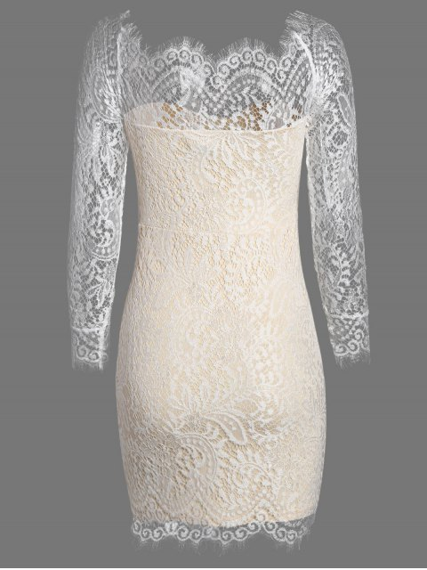 buy Off The Shoulder Bodycon Lace Dress - PALOMINO S Mobile