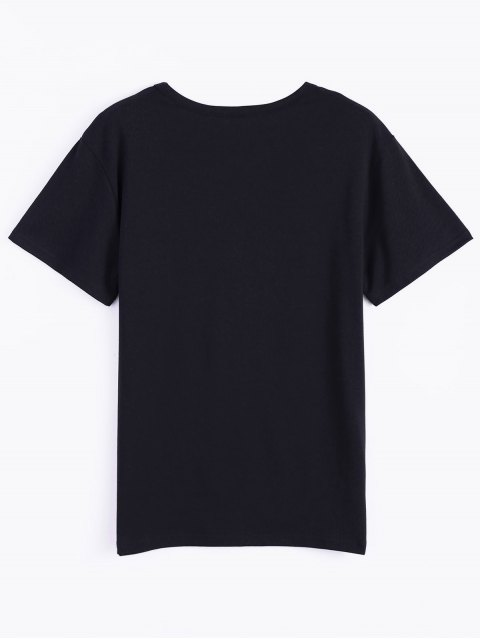 best Roll Short Sleeve Graphic Tee - BLACK M Mobile