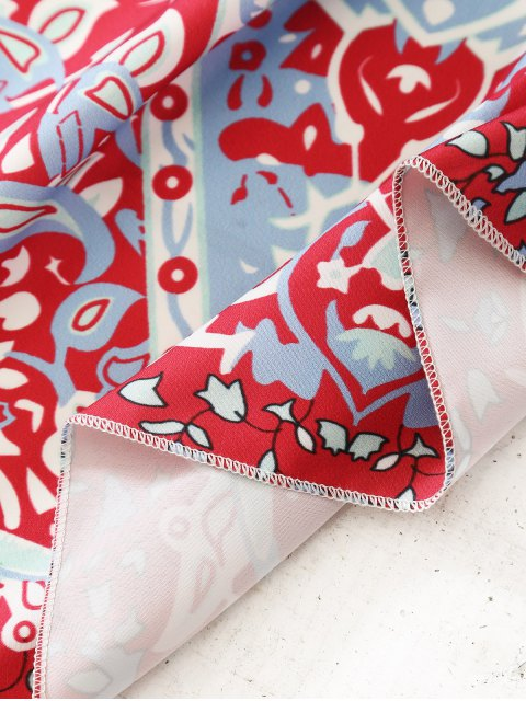 latest Indian Printed Mandala Beach Throw - RED ONE SIZE Mobile