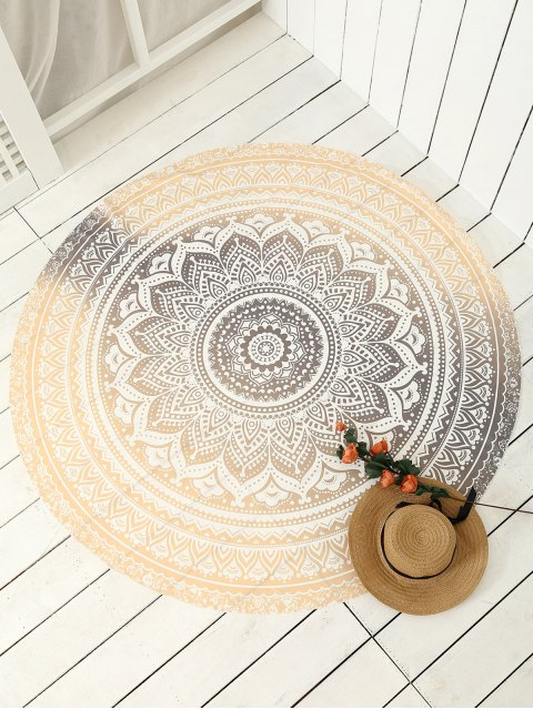 womens Printed Circle Beach Throw - GOLDEN ONE SIZE Mobile